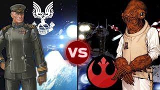 The UNSC Home Fleet vs the Rebel's Fleet at Endor   Halo vs Star Wars: Galactic Versus
