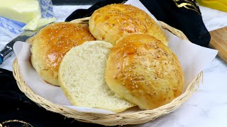 বার্গার বান (ডিম ছাড়া, চুলায় তৈরি) | Home made Burger Bun | Burger Bun Recipe Bangla | Eggless Bun