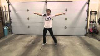OMI Cheerleader cheer poms easy dance choreography fun to learn tutorial step by step routine moves