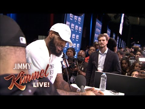 Guillermo at NBA All Star Media Day 2018 – Finding LeBron