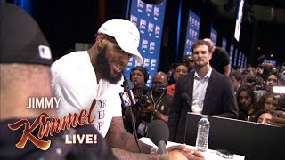 Guillermo at NBA All-Star Media Day 2018 – Finding LeBron