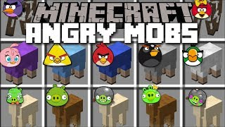 Minecraft ANGRY MOBS MOD / FIGHT LIKE THE ANGRY BIRDS AND KILL THE MOBS!! Minecraft