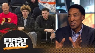Scottie Pippen says LaVar Ball leading kids down the wrong road | First Take | ESPN