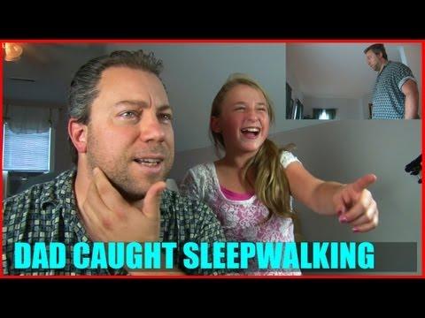 Dad's Reaction to his Sleepwalking Video