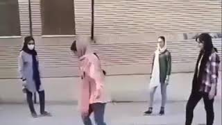 Iranian (persian) school girls dancing  , Tehran , Iran .