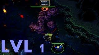 DotA Tricks #4 - Kill Roshan Level 1