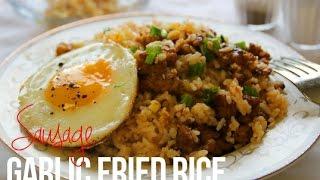 Sausage Garlic Fried Rice in 20 Minutes