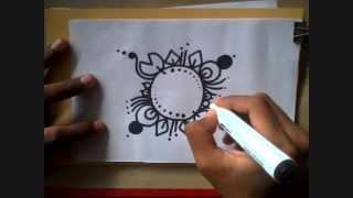 How to draw Alpona bd -আল্পনা-আলপনা আঁকা12design Bangladesh/Bangla year/art/ Bangali/pohela boishakh