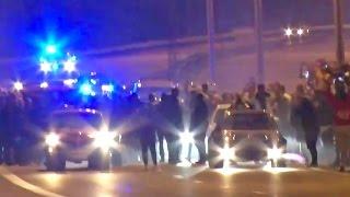 1000hp Turbo Evo - COPS vs Sweden Illegal Street Race!