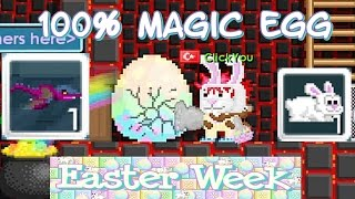 Growtopia - Making 100% Bunny Egg + Getting Violet Dragon