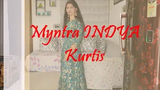 Myntra INDYA Anarkali Kurtis Haul | Beauty And Creativity