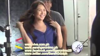 Sarah Geronimo behind-the-scenes of VICKS TV commercial