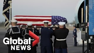 George H.W. Bush arrives in Texas after final flight on Air Force One