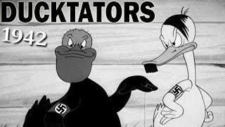 The Ducktators | 1942 | Banned WW2 Cartoon | Looney Tunes | Animated Propaganda Short Film
