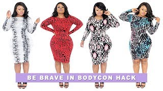 Plus Size & Curvy Girl's HACK To Being Brave In Bodycon Dresses | Edee Beau