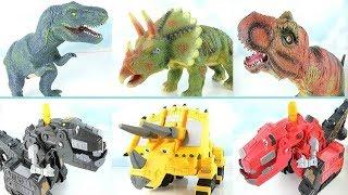 Real Dinosaurs Transformation Dinosaur Robot Toys! Dinosaur Real Life Adventure Story~