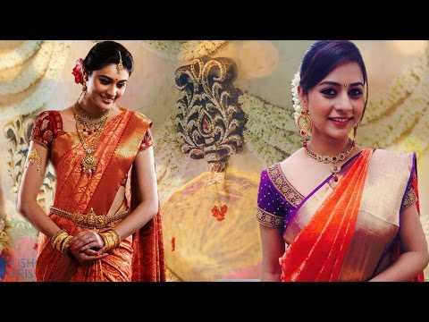 3 Gorgeous Ways To Wear Wedding South Indian Silk Saree With Thin Perfect Pleats| Look Slim and Tall