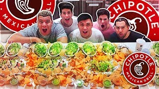 ENTIRE CHIPOTLE MENU IN 10 MINUTES CHALLENGE