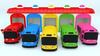 Colors for Children to Learn with Color Bus Toy - Colours for Kids to Learn - Learning Videos