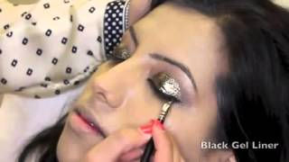 Asian Bridal Makeup with Glitter   Wedding Look