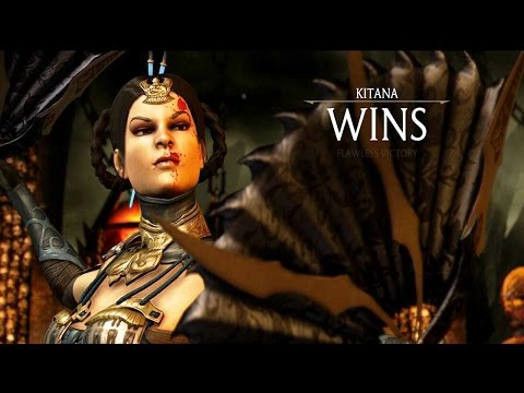 Mortal Kombat X - Kitana All Fatalites/ Brutalities/ X-Ray Gameplay