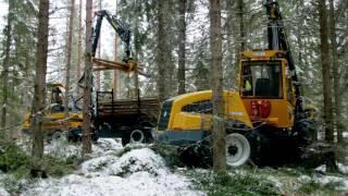 Harvester HR45 e Forwarder FR28 Sampo Rosenlew