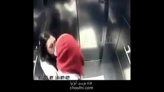 Kisses in the elevator surveillance cameras