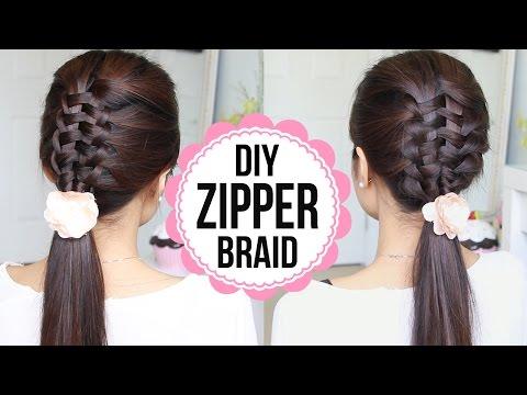 Zipper Braid Hair Tutorial 2 Ways Braided Hairstyles