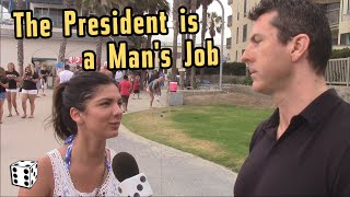 The President is a Man's Job, Women Admit