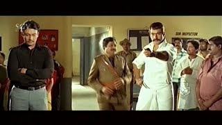 Darshan Released Girls from Police Station | Darshan Super Double Acting Scenes | Kannada Movies