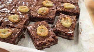Roasted Banana Brownies Recipe - Pai's Kitchen!