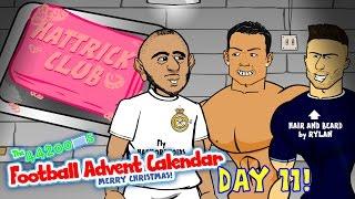 HAT-TRICK CLUB 2 - starring Ronaldo, Benzema, Giroud and Lamela (parody Day 11 Football Advent)