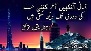 How Far Human Eyes Can See | Urdu / Hindi