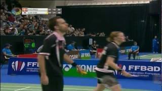 QF - XD - J.Fischer Nielsen/C. Pedersen vs. Lee Y. D./Ha J. E. - Yonex Badminton French Open 2011