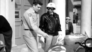 Andy rides with Barney in his sidecar
