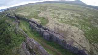 North America & Eurasia tectonic plates gap Iceland