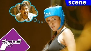 Vijay Tells About Boxer Kajal To Sathyan - Comedy Scene - Thuppakki Movie Scenes