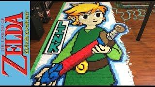 """The Legend of Zelda the Wind Waker """"In 78,175 Dominoes!"""""""