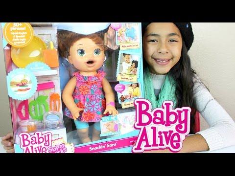 Baby Alive Doll Eats and Poops Play Doh Snackin Sara B2cutecupcakes
