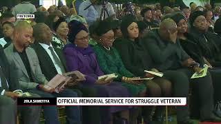 Dr Zola Skweyiya's memorial service