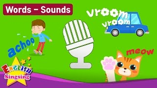 "Kids vocabulary Theme ""Sounds"" - Animal, Human, Transportation - Words Theme collection for kids"