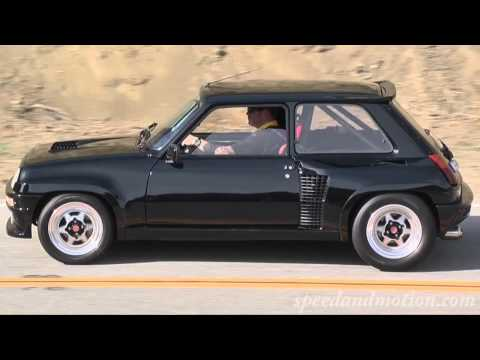 Renault R5 Turbo coming up Mulholland