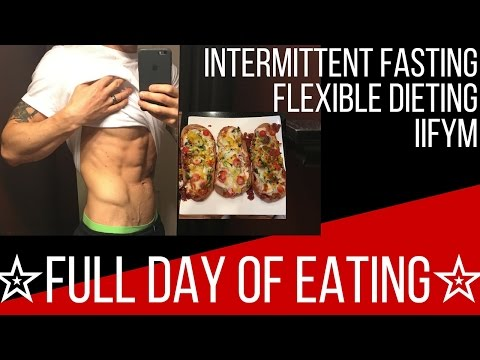 Full Day of Eating: CUTTING DIET (Intermittent Fasting, Flexible Dieting, & IIFYM)