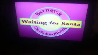 Opening To Barney Waiting For Santa 1991 VHS