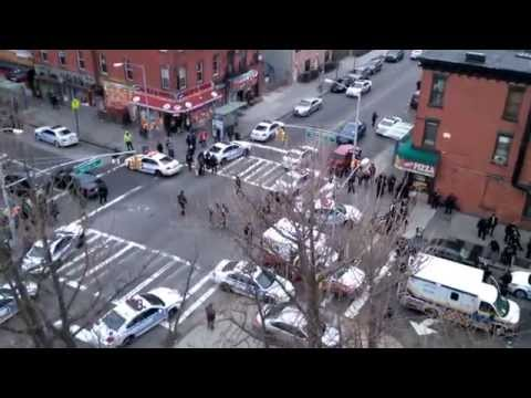 2 NYPD OFFICERS SHOT DEAD IN BED-STUY, BROOKLYN  P
