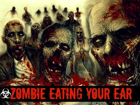 [ASMR] ⚠EARGASM Zombie Ear Eating Role PLay Binaural, Mouth Sounds✨