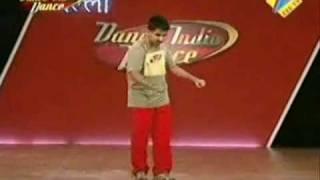 Abhi at Dance India Dance final Audition