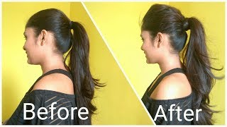 Volumized Ponytail Hairstyle For Medium Hair   The perfect high Ponytail For School, College & Work