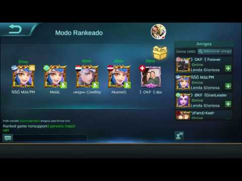 Rank Lenda OKF doc Mobile Legends smurf soloQ