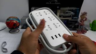 Xiaomi 3 USB 5 Power Plug Strip Portable Socket Unboxing And Hands On